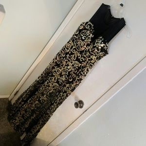 Black and gold sequin mermaid dress